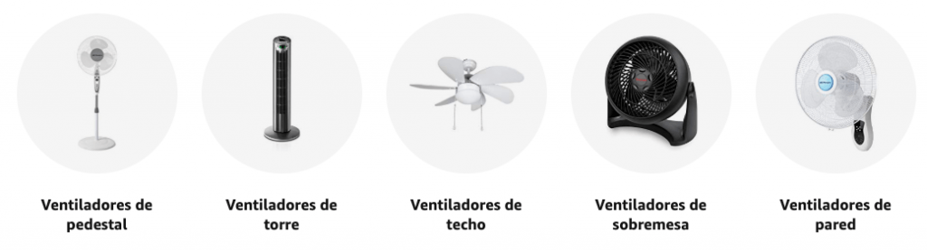 catalogo ventiladores amazon