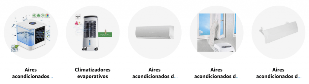 catalogo aires acondicionados amazon